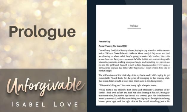 Excerpt of Unforgivable – PROLOGUE